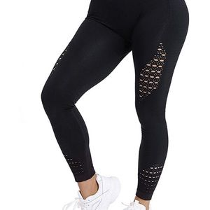 High Waisted Workout Seamless Black Leggings